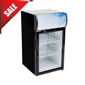 """16.5"""" Countertop Display Refrigerator Swing Door Merchandiser ETL Cooler Depot"""
