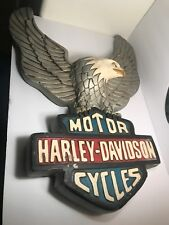 Harley Davidson Motorcycles Logo Statue Plaque