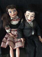 2 Ventriloquist Doll Dummies : Charlie McCarthy and Female Friend