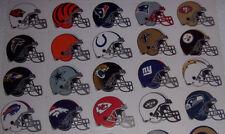 NFL HELMET STICKERS ALL 32 TEAMS