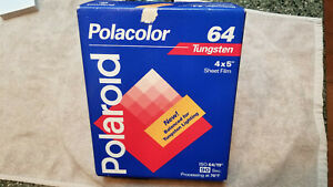 Expired Polaroid Polacolor 64 ISO Tungsten  4 x 5 Sheet Film 20 exp pack
