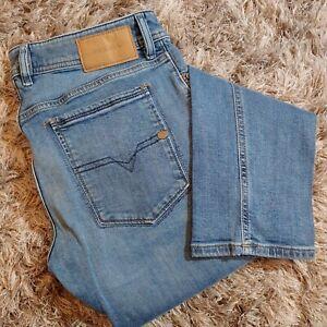 Diesel Mens 30/34 Sleenker Distressed Slim Skinny Jeans Holes Stretch Denim