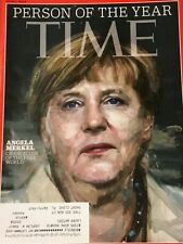 TIME Magazine.  December 21, 2015.  ANGELA MERKEL. Person of the Year.