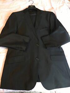 Men Black Carlo Lusso Suit Size 44L