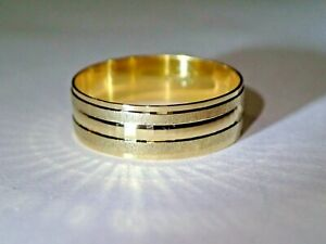 6mm Solid 18k Yellow Gold Polished Wedding Band Ring Size 9.5