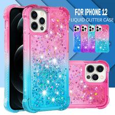 For iPhone 13 12 11 Pro Max Mini XS XR 8/7 Plus Case Clear Liquid Glitter Cover