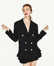 Rare!!! Size XS - NWT ZARA DOUBLE BREASTED JACKET WITH PEARL BUTTONS COAT BLAZER