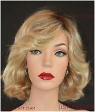 BRAVE THE WAVE Lace Front Vibralite  Monopart Wig Raquel Welch SS1488 ROOTED