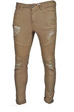 Men's Super Skinny Ripped Denim Jeans Slim Fit basics by LCJ Denim All Sizes