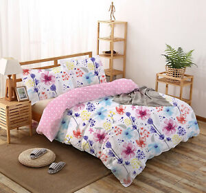 All Size Bed Quilt Duvet Doona Cover Set 100% Cotton Bedding Pillowcase Love