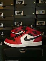 Nike Air Jordan 1 Retro Mid Chicago Bred Men's Black Red White 554724-069 NEW