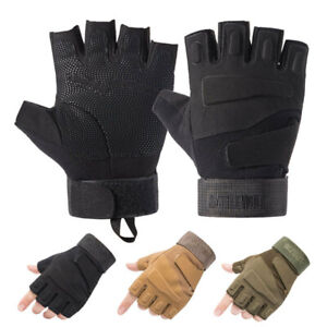 Tactical Half Finger Gloves Men's Army Military Combat Outdoor Sports Fingerless