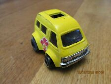 VINTAGE 1970S HOLLY YELLOW FUNKY CAMPER VAN DIE CAST METAL MODEL HONG KONG