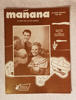 1948 MANANA { PEGGY LEE and DAVE BARBOUR = CAPITAL RECORDS } SHEET MUSIC
