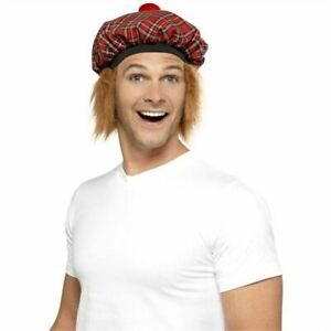 Tam-o-Shanter Hair Tartan Hat Scottish Scotts Burns Night Fancy Dress