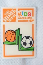 "HOME DEPOT WORKSHOPS BOOKENDS SOCCER BASKETBALL 1.5"" SILVERTONE METAL LAPEL PIN"