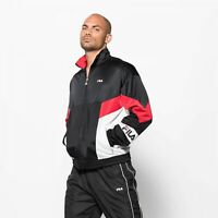 Fila Talbot Track Jacket Mens True Red Bright White Black Active Wear 682361-I22