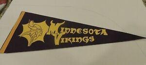 1960's Minnesota Vikings Pennant w/ Vintage Viking Mascot