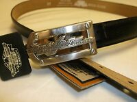 "Harley-Davidson Men's black leather ""road Classic"" vintage belt 98470-95VM"