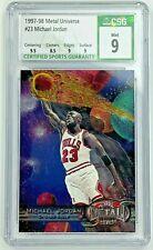 1997-98 Skybox Metal Universe Michael Jordan #23 CSG 9 Chicago Bulls HOF Rare