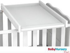 FITS 120x60 COT SIZE ONLY Cot Top Changer White Baby Changing Unit Baby Changer
