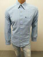 Camicia ABERCROMBIE & FITCH UOMO Taglia Size M Shirt Chemise Maglia Polo p5022