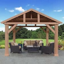 Yardistry 14' x 12' Cedar Gazebo with Aluminum Roof, NEW SHIPS FROM FACTORY