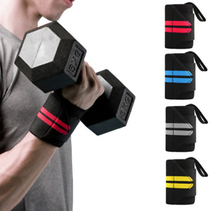 Gym Bodybuilding Wrist Support Wraps Bandage Weight Lifting Bar Straps Band Wrap