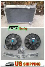 For Nissan 300ZX 1984-1989 All Aluminum 3 Rows Radiator + 2X Fans