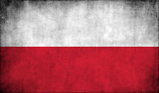 3x5 inch Poland VINTAGE Flag Sticker -decal proud car window bumper euro polish