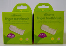 Green Sprouts Silicone Finger Toothbrush Pvc & Bpa Free Baby Gums Teeth (2 Pack)
