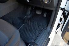 Rubber Floor Mats for Volkswagen Amarok 10-18 Black Front and Back