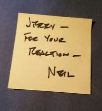 Neil Armstrong Autograph Apollo 11 Signed Post It Note JSA AUTHENTIC AUTO NASA