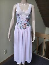 Vtg Victorias Secret Small Gold Label Pink Nightgown Lingerie Embroidered LACE