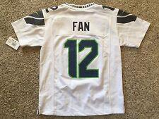 NWT New Seattle SEAHAWKS #12 FAN 12th Man NFL Nike Jersey Youth M Boys Navy