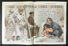 1922 Hart Schaffner & Marx Overcoats Snow Skis Samuel Nelson Abbott Art Print Ad