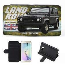 Personalised Land rover Defender Samsung Galaxy Classic Car Flip Phone Case CL27
