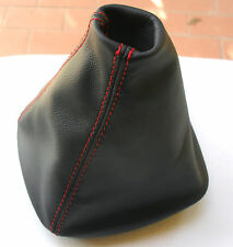 MERCEDES CLASSE A W 169 cuffia cambio in vera pelle 100% nera + cuciture rosse