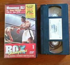 DSF 1 BOX CHAMPIONS  MUHAMMAD ALI GEORGE FOREMAN VHS Video Kassette