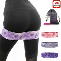 3PK Fabric Resistance Bands Non-Slip Thick&Wide Booty Hip Workout Exercise Bands