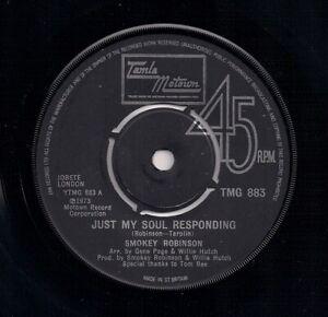 60s MOTOWN 7 SMOKEY ROBINSON - JUST MY SOUL RESPONDING / SWEET HARMONY - TMG883