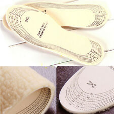 1Pair Unisex Winter Warm Feet Soft Wool Winter Shoe Insole Pad Cut Size To 36-45