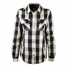 Harley-Davidson Women's Black Cream Sherpa Lined Plaid L/S Woven Shirt Jacket