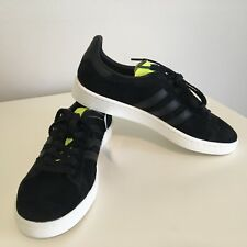 Adidas Originals Campus Black Suede/Yellow Mens size 9 NEW w/box sneaker classic