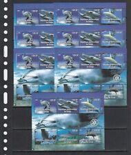 Dolphins Marine Life 2004 Congo MNH 6 v M/s set perf X 7 Wholesale lot