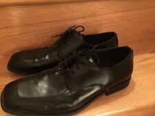 Men's Shoes Apt 9 Lace Up 11 M Medium Faux Leather Man Made GUC Oxford Black