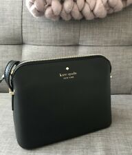Kate Spade New York Dome Cross Body Bag Black Leather Ladies Handbag Purse