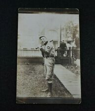 Early 1900's Rppc Photo Postcard of Baseball Player in Full Uniform-Very Nice!