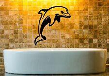 Wall Stickers Vinyl Decal Dolphin Ocean Sea Marine Decor Bathroom (ig970)