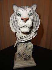 "Refined - Mill Creek Studios- 9"" White Tiger statue / sculpture"